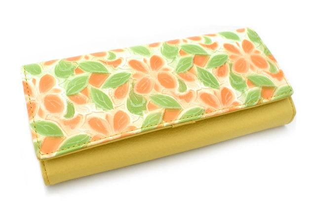 プリムラ 長財布(小銭入れあり) 「ル・プレリーギンザ」 NPL4015 オレンジ 正面