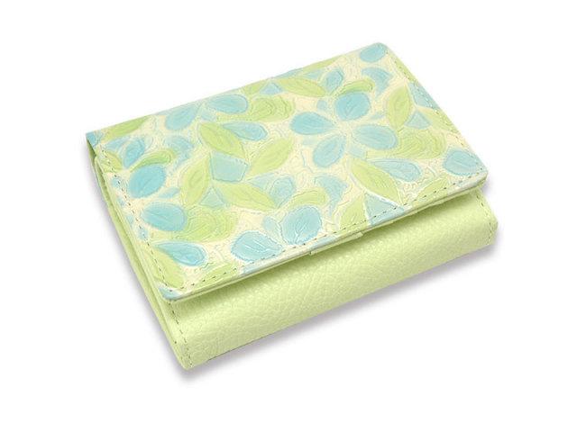 Primura(プリムラ) 二つ折り財布(小銭入れあり) 「ル・プレリー 」 NPL4213 ブルー 正面