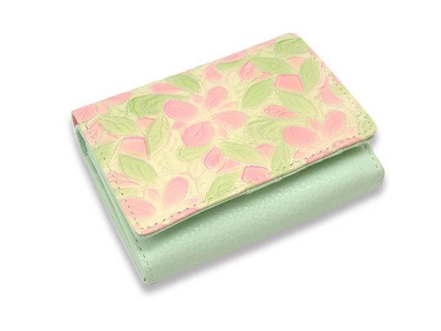 Primura(プリムラ) 二つ折り財布(小銭入れあり) 「ル・プレリー 」 NPL4213 ピンク 正面