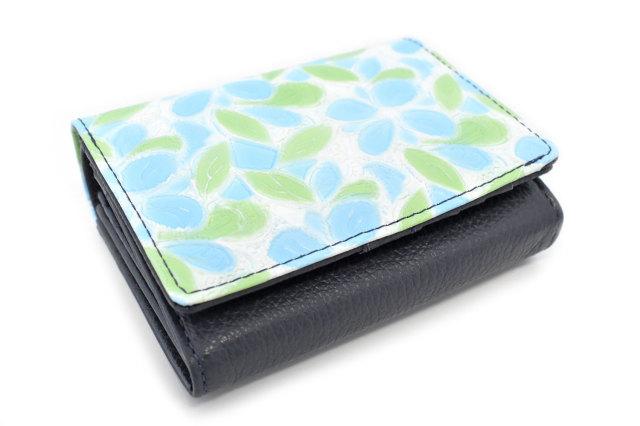 プリムラ 二つ折り財布(小銭入れあり) 「ル・プレリーギンザ」 NPL4213 サックス 正面
