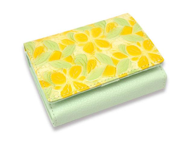 Primura(プリムラ) 二つ折り財布(小銭入れあり) 「ル・プレリー 」 NPL4213 イエロー 正面