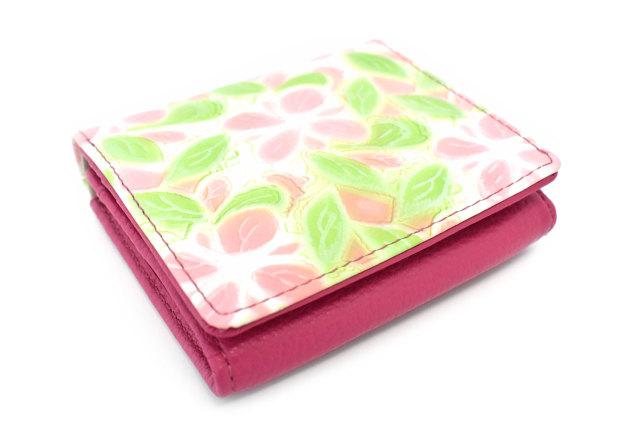 プリムラ 二つ折り財布(BOX小銭入れあり) 「ル・プレリーギンザ」 NPL4412 コーラルピンク 正面