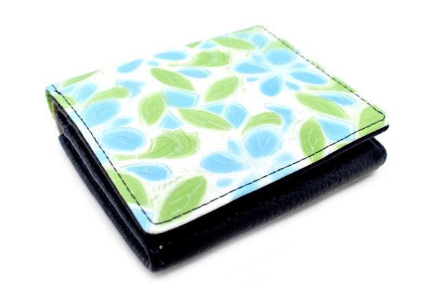 プリムラ 二つ折り財布(BOX小銭入れあり) 「ル・プレリーギンザ」 NPL4412 サックス 正面