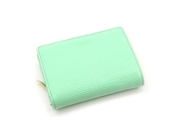 Refined(リファイン)二つ折り財布 (小銭入あり)「ル・プレリーギンザ」 NPL5312 ライトグリーン 正面