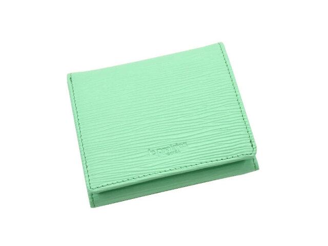Refined(リファイン)二つ折り財布 (小銭入あり)「ル・プレリーギンザ」 NPL5410 ライトグリーン 正面