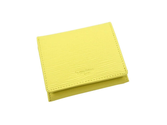 Refined(リファイン)二つ折り財布 (小銭入あり)「ル・プレリーギンザ」 NPL5410 イエロー 正面