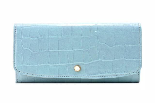 COCCO(コッコ)長財布 「ル・プレリーギンザ 」 NPL9015 ブルー 正面