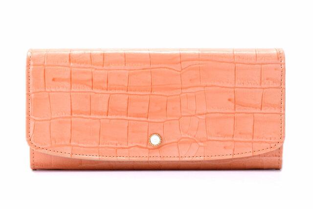 COCCO(コッコ)長財布 「ル・プレリーギンザ 」 NPL9015 オレンジ 正面