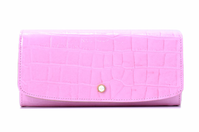 COCCO(コッコ)長財布 「ル・プレリーギンザ 」 NPL9015 ピンク 正面