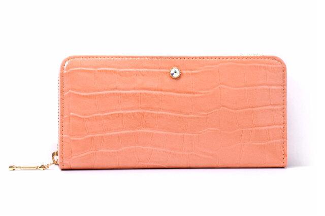 COCCO(コッコ) ラウンドファスナー長財布 「ル・プレリーギンザ 」 NPL9114 オレンジ 正面