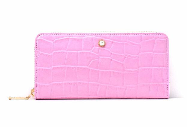 COCCO(コッコ) ラウンドファスナー長財布 「ル・プレリーギンザ 」 NPL9114 ピンク 正面