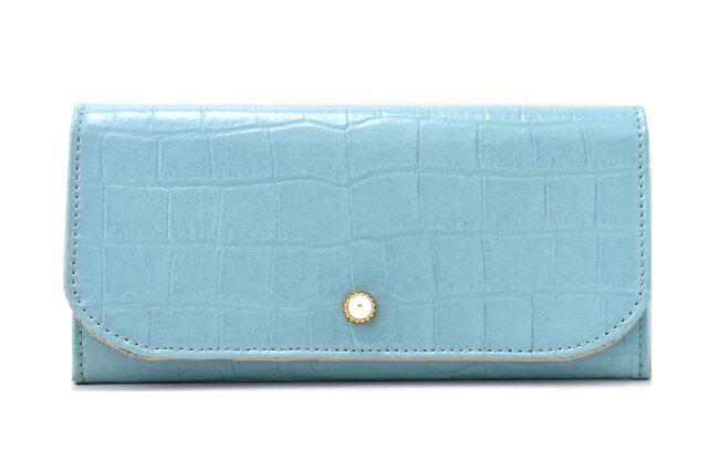 COCCO(コッコ) 薄型長財布 「ル・プレリーギンザ 」 NPL9212 ブルー 正面