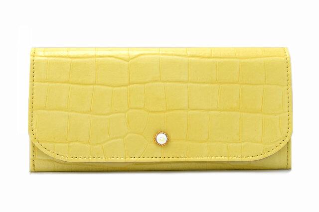 COCCO(コッコ) 薄型長財布 「ル・プレリーギンザ 」 NPL9212 イエロー 正面