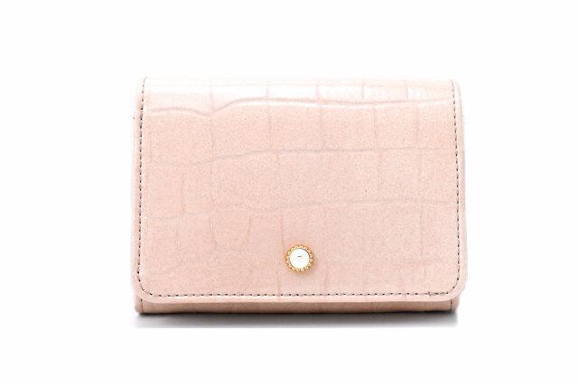 COCCO(コッコ) 二つ折り財布(小銭入れあり) 「ル・プレリーギンザ 」 NPL9313 ベージュ 正面