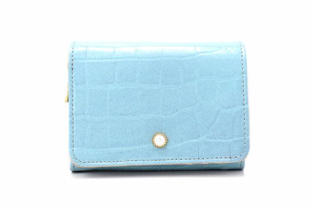 COCCO(コッコ) 二つ折り財布(小銭入れあり) 「ル・プレリーギンザ 」 NPL9313 ブルー 正面