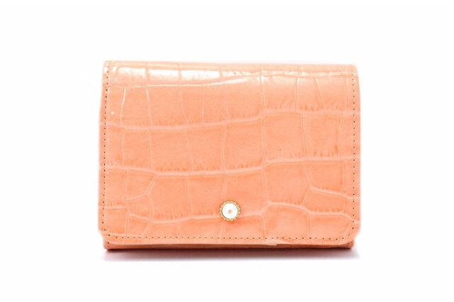 COCCO(コッコ) 二つ折り財布(小銭入れあり) 「ル・プレリーギンザ 」 NPL9313 オレンジ 正面