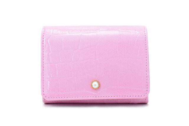COCCO(コッコ) 二つ折り財布(小銭入れあり) 「ル・プレリーギンザ 」 NPL9313 ピンク 正面