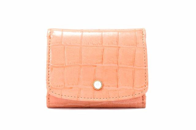 COCCO(コッコ) 三つ折り財布(小銭入れあり) 「ル・プレリーギンザ 」 NPL9490 オレンジ 正面