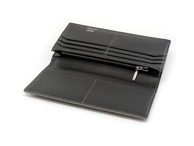 GINZAエレファント 長財布(小銭入れあり) 「プレリーギンザ」 NPM1040 グレー 内作り