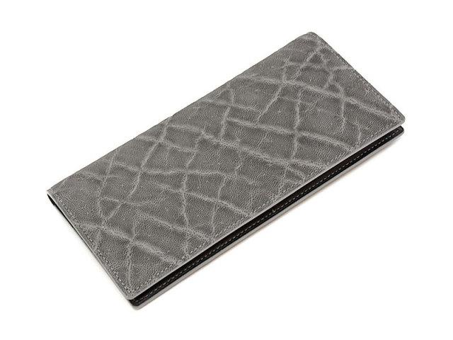 GINZAエレファント 長財布(小銭入れなし) 「プレリーギンザ」 NPM1136 グレー 正面