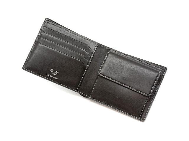 GINZAエレファント 二つ折り財布(小銭入れあり) 「プレリーギンザ」 NPM1235 グレー 内作り