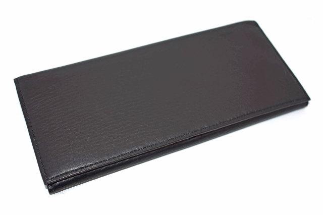 Glove high soft leather(グローブハイソフトレザー) 長財布(小銭入れあり)「プレリーギンザ」 NPM4020 クロ 正面