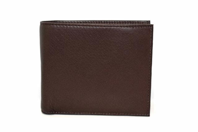 Glove high soft leather(グローブハイソフトレザー) 二つ折り財布(小銭入れあり)「プレリーギンザ」 NPM4118 チョコ 正面