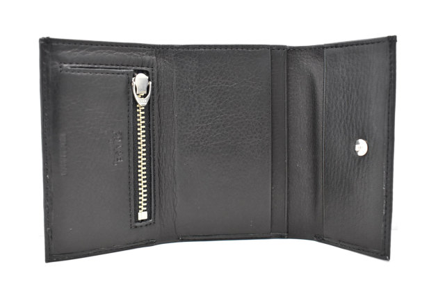 Glove high soft leather(グローブハイソフトレザー) 三つ折り財布(小銭入れあり)「プレリーギンザ」 NPM4213 クロ 内作り