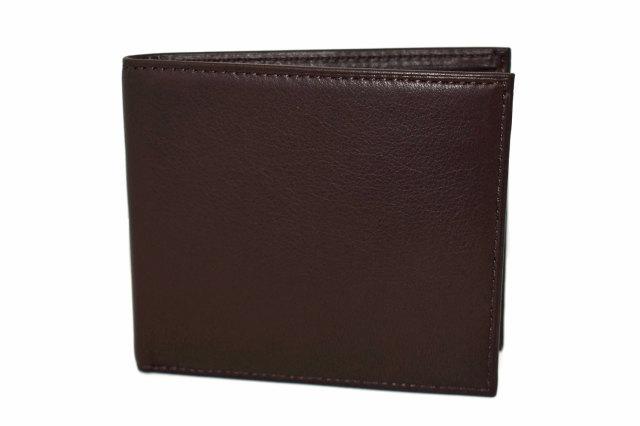 Glove high soft leather(グローブハイソフトレザー) 二つ折り財布(小銭入れなし)「プレリーギンザ」 NPM4514 クロ 正面