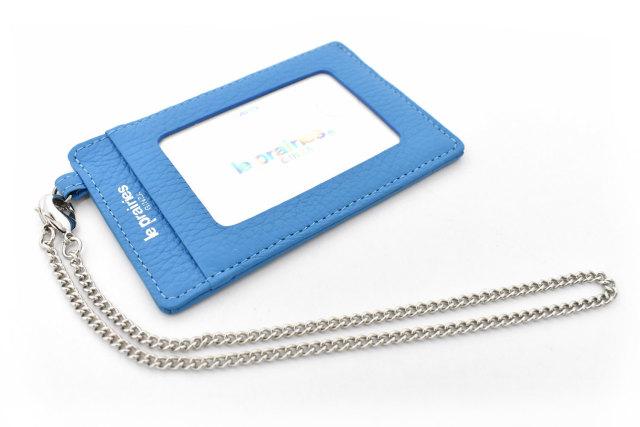 Comodity(コモディティ) チェーン付パスケース 「ル・プレリーギンザ」 NPS5235 ブルー 正面