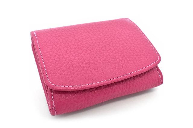 Comodity(コモディティ)三つ折り財布  「ル・プレリーギンザ」 NPS5570 ピンク 正面