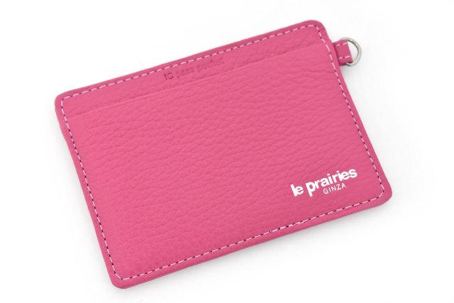 Comodity(コモディティ) ICカードを2枚入れても大丈夫なパスケース  「ル・プレリーギンザ」 NPS5755 ピンク 正面