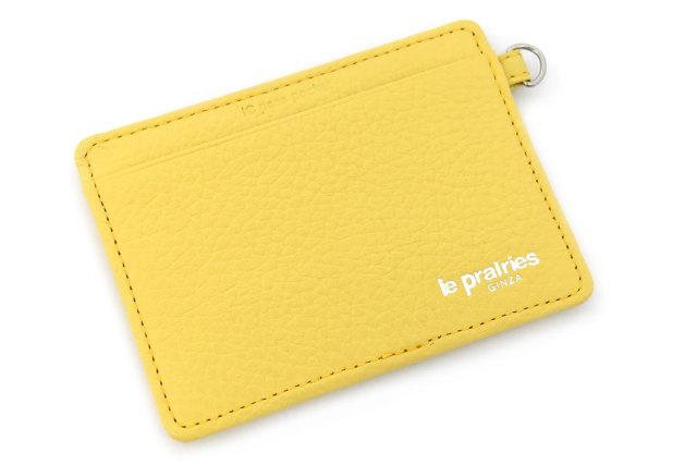Comodity(コモディティ) ICカードを2枚入れても大丈夫なパスケース  「ル・プレリーギンザ」 NPS5755 イエロー 正面