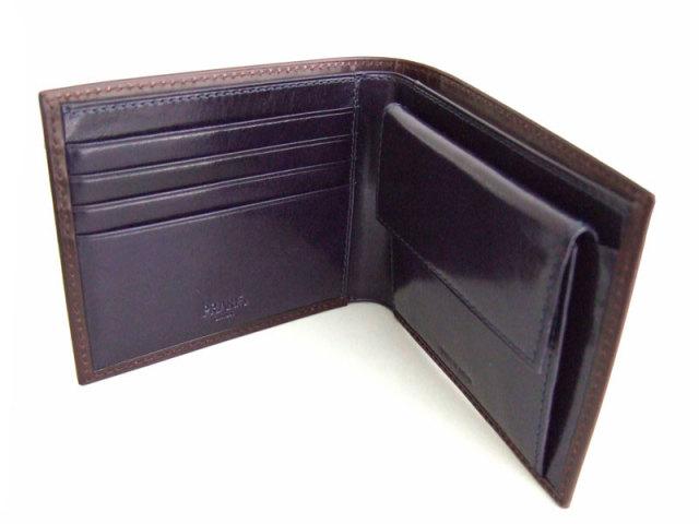 Victoria(ビクトリア) 二つ折り財布(小銭入れあり) 「プレリーギンザ」 NPT5118 ダークブラウン 内作り