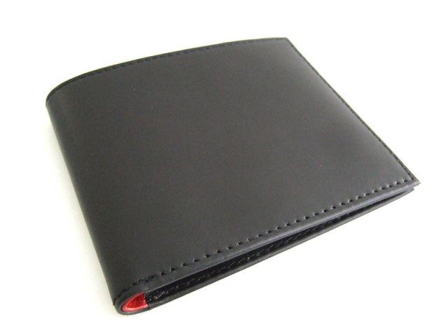 Victoria(ビクトリア) 二つ折り財布(小銭入れなし) 「プレリーギンザ」 NPT5212 ブラック 正面