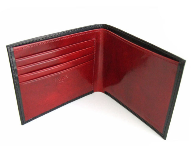Victoria(ビクトリア) 二つ折り財布(小銭入れなし) 「プレリーギンザ」 NPT5212 ブラック 内作り