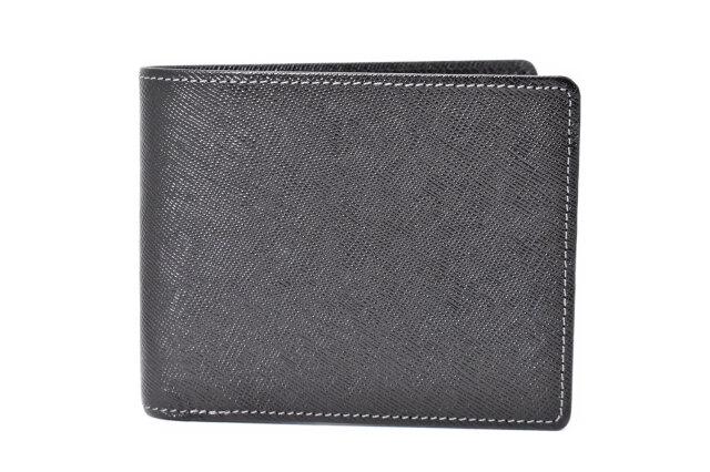 Clean(クリーン) 二つ折り財布(小銭入れあり) 「プレリーギンザ」 NPX8112 クロ 正面