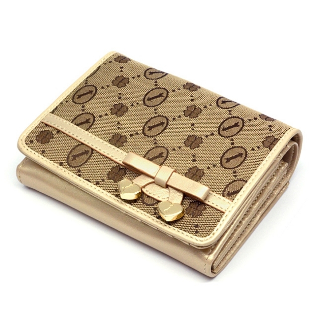 GP38215 コーディネート 二つ折り財布  「ゴールドファイル 」