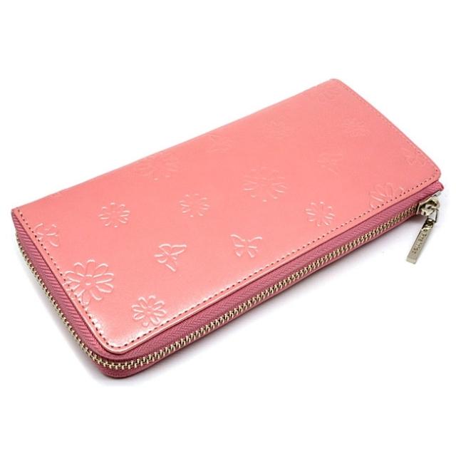 ユリシス L字ファスナー長財布 「ル・プレリー」 NP22111 ピンク