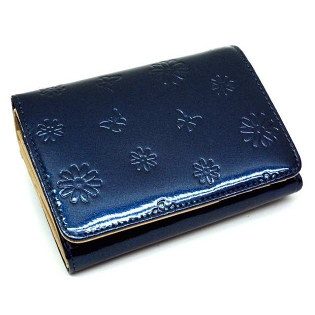 ユリシス 二つ折り財布 「ル・プレリー」 NP22213 ネイビー