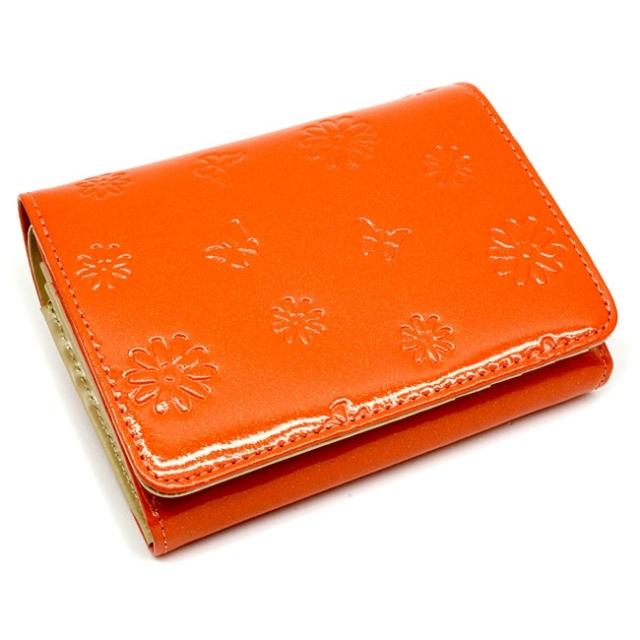 ユリシス 二つ折り財布 「ル・プレリー」 NP22213 オレンジ