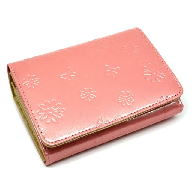 ユリシス 二つ折り財布 「ル・プレリー」 NP22213 ピンク