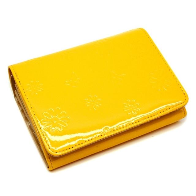 ユリシス 二つ折り財布 「ル・プレリー」 NP22213 イエロー
