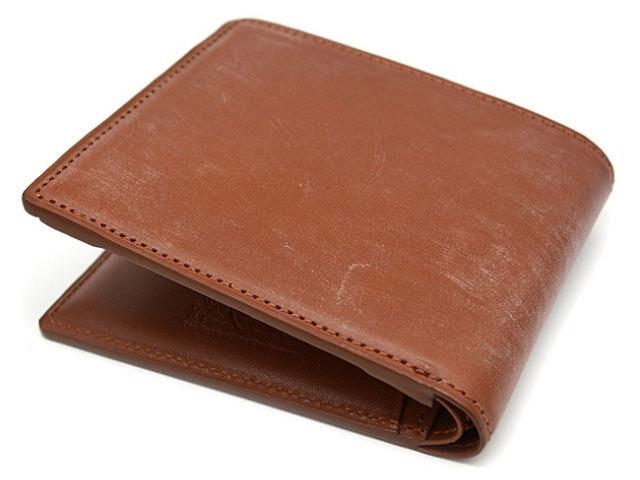 NPJブリティッシュブライドル 二つ折り財布(小銭入あり)「ジュエル」 ブラウン 正面