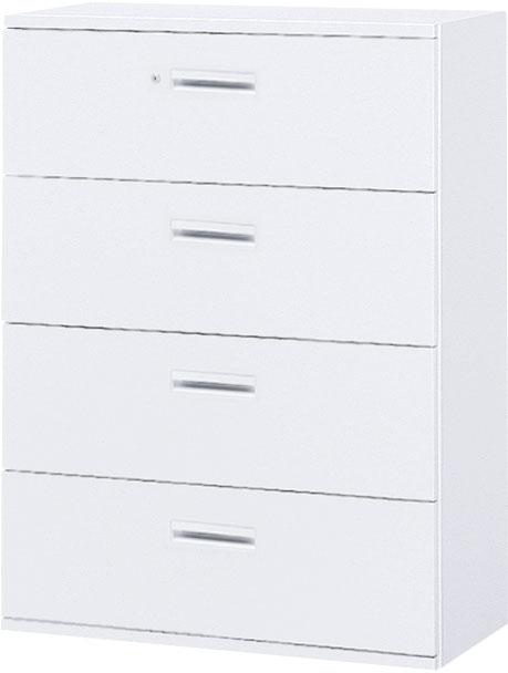 内田洋行 ハイパーストレージ スタンダードタイプ ラテラルキャビネット(一括施錠) HS LA4-12(C) 4段 W900×D450×H1200