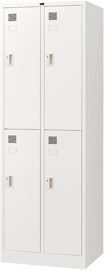 内田洋行 システムロッカーNS型 スタンダードタイプ細形 4人用(S) シリンダー錠 ホワイト色 W608×D515×H1790mm