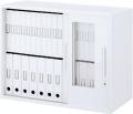 内田洋行 ハイパーストレージ スタンダードタイプ 透明3枚引き違い書庫 HS GTH-07D(C) 2段 下置き用 W900×D450×H700