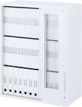 内田洋行 ハイパーストレージ スタンダードタイプ 透明3枚引き違い書庫 HS800 GTH-10U(B) 3段 上置き用 W800×D400×H1050