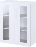 内田洋行 ハイパーストレージ スタンダードタイプ 透明両開き書庫 HS800 TA-10D(B) 3段 下置き用 W800×D400×H1050