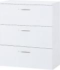 内田洋行 ハイパーストレージ ダイヤル錠タイプ ラテラルキャビネット(各段施錠) HS LA-10各段D錠(C) 3段 W900×D450×H1050